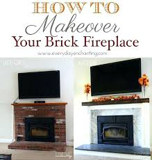 brick fireplace remodel redo brick fireplace pint makeover brick fireplace makeovers diy