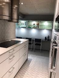 320 grey concrete faux stone wall covering kitchen