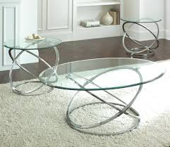chrome cocktail and end tables set with glass top small round coffee round glass coffee table