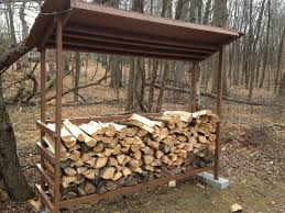 simple diy backyard firewood storage shed with roof and cinder block intended for the most awesome