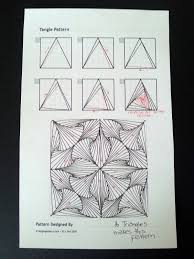 Triangle Design Drawing Easy Judys Zentangle Creations Paradox Triangles Much Easier