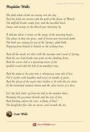 magdalen walks poem by oscar wilde