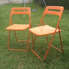 white chairs ikea nisse folding chair high. 2 Orange Folding Ikea Nisse Chairs White Chair High