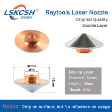 LSKCSH <b>10Pcs</b>/<b>Lot</b> Raytools Original Double Layer Nozzle Dia ...
