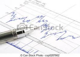 Tip Stock Chart Ballpoint Pen On Stock Chart