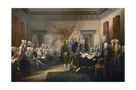 signing of the united states declaration of independence 1776 painting art print poster us declaration of independence signing painting john trumbull