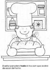 Kleurplaat Bakker Kids Printables Oficios Y Profesiones