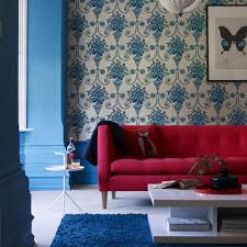 Red And Blue Living Room Living Room Colour Schemes