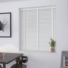 50mm Pure White Venetian Blind With Cotton Tapes  Real Wood From Real Wood Window Blinds