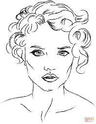 Small Picture Womans Face coloring page Free Printable Coloring Pages