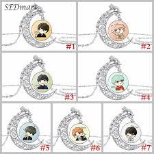 BTS <b>necklace BANGTAN BOYS necklace KPOP necklace</b> The moon ...