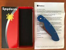 Коллекционная голубая Spyderco <b>складные ножи</b> - огромный ...