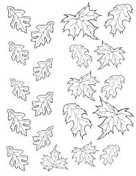 Small Picture Coloring Pages Coloring Pages Of Fall Autumn Leaves Page