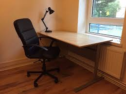 ikea fredrik desk and lamp