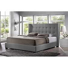 Amazon Baxton Studio Hirst Platform Bed King Gray Kitchen