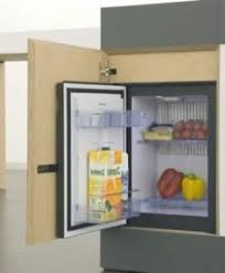 refrigerator only units. at only when closed, \u0027small type\u0027 serves as a dining table. the table is rolled away, full capability of kitchen unit revealed with refrigerator units