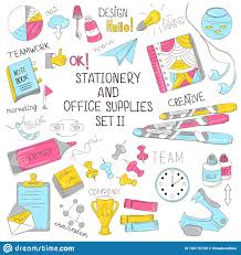 Graphic Design Subjects A Set Of Stationery Vector Illustration Of School Subjects