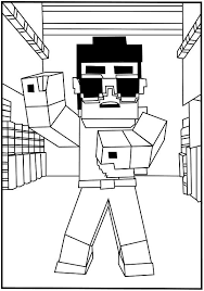 Minecraft Free Coloring Pages To Print Dan Tdm Happy