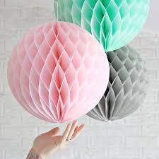 How To Make Fluffy Decoration Balls 100pcs 100cm PinkGreyMint Large Tissue Paper Honeycomb Balls 16