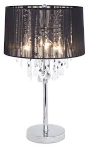 crystal shade table lamp black thread chandelier shabby chic mulberry moon 6