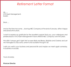 Sample Letters Of Retirement Retirement Letter Samples Examples Formats Writing Guide