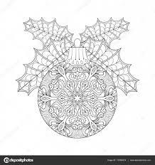 ヤドリギ新年 2017年フリーハンド装飾要素でビンテージのクリスマス