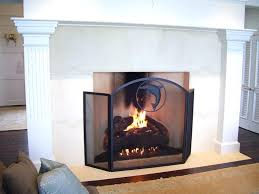 gas fireplace screens gas log fireplace screens remarkable ideas dining room with gas log fireplace screens