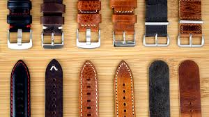 types of leather watch straps