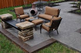 stained concrete patio.  Patio Stamped Stained Concrete Patio  Kansas City And A
