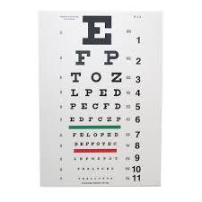 Snellen Eye Chart 10 Distance Eye Cards Eye Charts