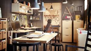 ikea office space. ikea office space gray walls blonde wood tones like the workshop ikea