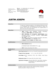comely sample resume format hotel management hospitality resume format for mca student
