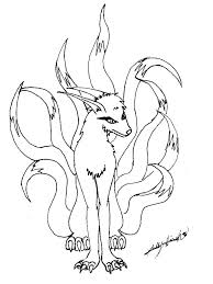 Nine Tailed Fox Coloring Pages At Getdrawingscom Free For