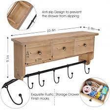 solid wooden shelf rack for entryway