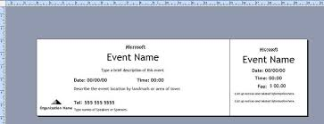 Microsoft Word Ticket Templates Extraordinary Numbered Tickets Samancinetonicco