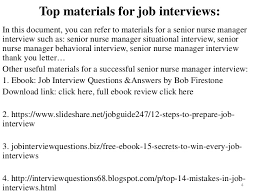 40 Senior Nurse Manager Interview Questions And Answers Pdf