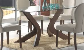 top glass dining table with wood base interior design within decorations 0