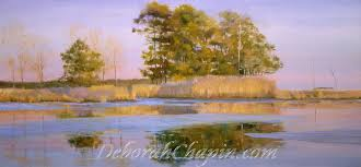 landscape painting indian summer winner of the paint america compeition 16x34 original oil