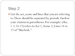 Citing Shakespeare Mla Format Ppt Video Online Download