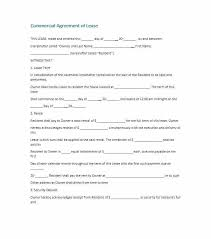 Retail Lease Abstract Template Commercial Agreement Free New