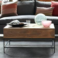 west elm coffee table with storage storage coffee table west west elm industrial storage coffee table
