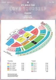 January 2019 Bts Love Yourself World Tour In Singapore