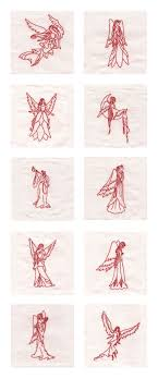 Redwork Machine Embroidery Designs Free Redwork Angels Of Grace Embroidery Machine Design Details