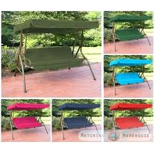 3 seat porch swing replacement canopy cover and cushions set garden hammock outdoor