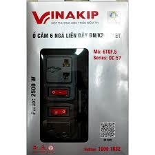 Ổ cắm điện vinakip 6 ngả đa năng liền dây 3 mét - Sắp xếp theo liên quan  sản phẩm