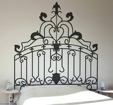 rococo headboard wall decal interior design