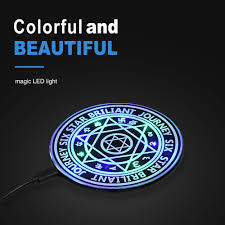 10w Magic Array Lighting Wireless Charger Us 0 99 Wireless Charger Qi Certified 10w Ultra Slim Fast Charging Pad With Magic Array Circle Light Compatible Iphone Samsung Galaxy In Mobile