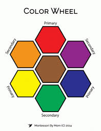 © presentitude the primary colors on the color wheel are red, yellow and blue. Printable Color Wheel Montessori By Mom