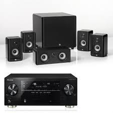 pioneer 5 1 speakers. nintronics - home cinema package pioneer vsx-2022 black + boston acoustics a23 5.1 speaker gloss qed cable pack bundle worth 5 1 speakers