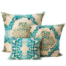 teal and gold pillows. Modren Pillows Kim Seybert Brocade Teal Gold Pillows Teal Throw Pillows  Decorative And A